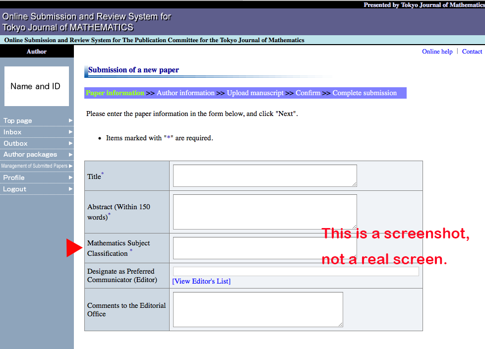 A screenshot of the login page